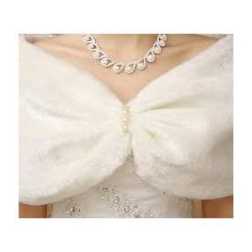 Estola Noiva Festa Casamento Pelerine Poncho Luxo Pele Pelo