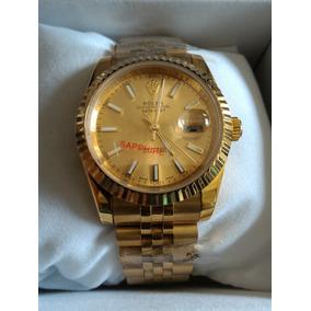 Relogio Luxo Rolex Dourado Ouro Cx Manual 097 Envio Grati