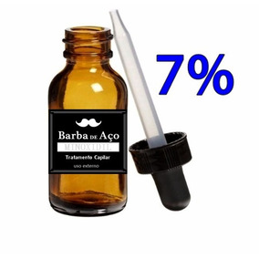 Cresce Barba Cabelo Sobrancelhas 7% - Crescimento - 30ml