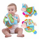 Livro De Pano Para Bebê Desenvolvimento Infantil Mordedor