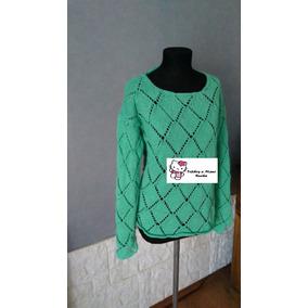 Sweater Tejido A Dos Agujas Hilo De Algodón