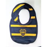 Babero Boca Juniors Licencia Oficial Bebe Con Abrojo