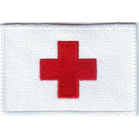 Cruz Roja Mexicana Bandera Parche Bordado Rescate