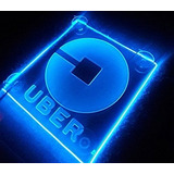 Logo Led Lit Sign Rideshare Car Sign Pilas Aa Azul
