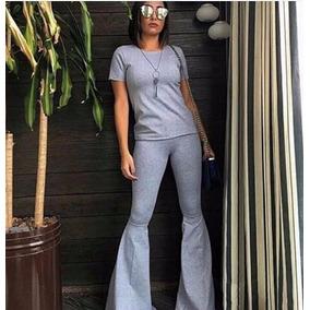 Moletim Feminino Conjunto Calça Blusa Frio Moleton Lançament
