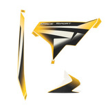 Kit Calco Carenado Derecho Amarillo Rouser Rs200