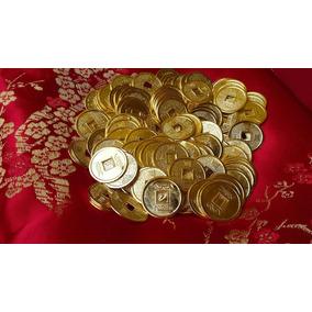 Monedas Chinas Lote De 25pz. Simbolo De Riqueza Y Protección