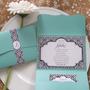 Tarjeta Romantic Barroco Sobre Perlado Casamiento 15año