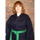 Sipalki Kempo Kung Fu Karategi Dobok Negro 1,60 A 1,80 10 Oz