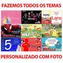 5 Convites Festa Infantil Fazemos Com Foto 7x10 Personagens