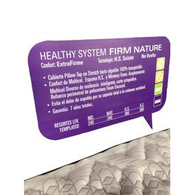 Colchón Matrimonial Healthy System Firm Nature Con Box