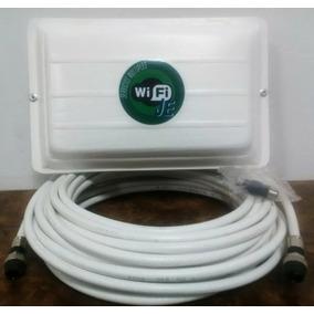 Antena Cliente Wifi 17dbi 10mts Cable Con Sus Conectores Je
