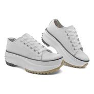 Zapatillas Mujer Sneaker Star Cuero Puntera Glowy 1000