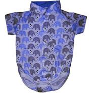 Roupa Festa Infantil Bebê Body Bori Camisa Social Temática Menino  Tecido Tricoline 100% Algodão