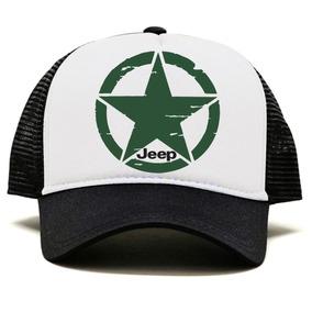 Boné Trucker Aba Curvada Estampado Jeep Off Road 4x4 Militar 6a675299d27