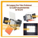 Lampara Profesional Video Camara 12 Led Bateria Np F970 Foto