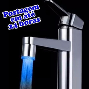 Adaptador Bico De Torneira Led Azul - 22 E 24mm