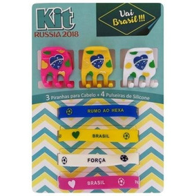 Acessórios Kit Copa,piranhas P/cabelos E Pulseira Cx/12 Und.