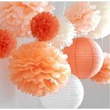 Vida Pom Pom Poms 12pcs De Multi-colores Papel Artesanía P