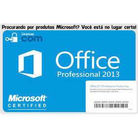 1x Office 2013 Pro Home Original + Nota Fiscal Pt-br 32/64