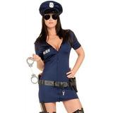 Accesorios Disfraz Policía, Gorra, Esposas,lentes Y Machete