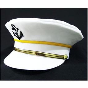 Chapéu Quepe Luxo Marinheiro Marinha Fantasia Festa Cosplay