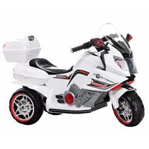 Super Moto Elétrica Infantil Branca Recarregável Bivolt Nf