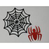 Painel Homem Aranha Teia+aranha Em Eva Glitter