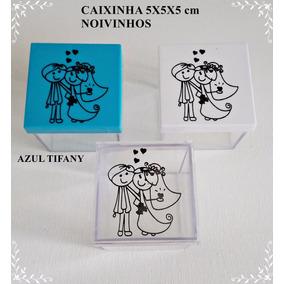 Caixinha Acrílico 5x5 Noivinhos R$ 0,75 Unid Kit 50 Unids