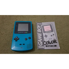 Game Boy Color Azul Japonês Funcionando Ok A9