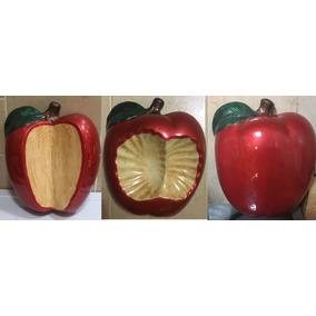 Juego De 3 Manzanas De Ceramica