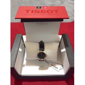 Reloj Tissot Dama, Correa De Cuero Negra, Nuevo Y Original