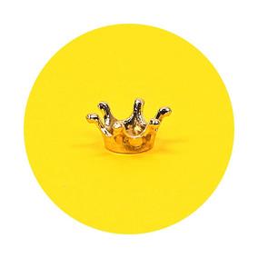 Mini Coroa Dourada Pingente 1,5cm - 50 Peças
