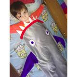 Cola De Sirena /tiburon (manta De Polar) Por Encargo.