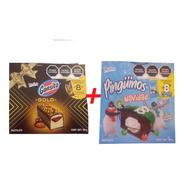 Gansito Gold 8 Pzas + Pingüinos Marinela Navidad 8 Pzas