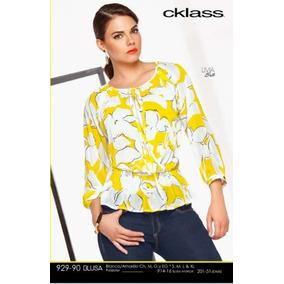 Blusa Cklass Amarillo/blanco Primavera Verano Nueva