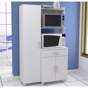 Organizador Despensero Porta Microondas Grill Blanco Brillo