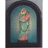 Cuadro Craquelado Virgen De San Nicolas 14x18
