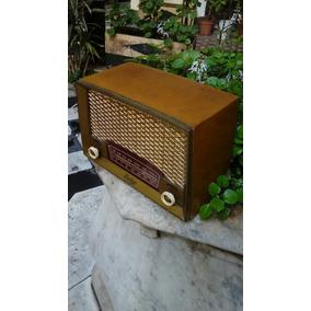 Antigua Radio Madera A Valvulas Para Coleccion Decoracion