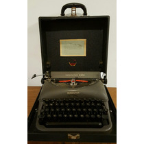 Maquina De Escribir Remington Rand Con Estuche Valija Sana