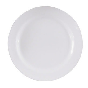 50 Pratos De Melamina Plastico Sobremesa Liso Branco 18cm