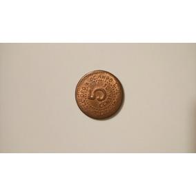 Moneda Cinco Centavos Cobre Tetela Del Oro Y Ocampo Pue 1915