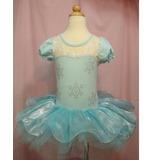 Vestido Fantasia Elsa Azul Bailarina Carnaval
