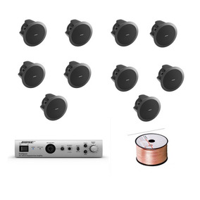 Bose Audio Instalacion 10 Bocinas Plafon Y Amplificador