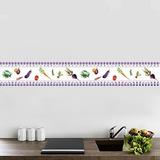 Faixa Decorativa - Cozinha - Legumes 10cmx1m