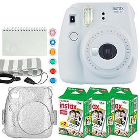 Fujifilm Instax Mini 9 Instant Camera (smokey White) + Fujif