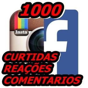 Pacote 1000 Curtidas Comentários Reações Facebook Instagram