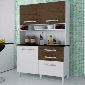 Cozinha Brenda, 4 Portas, 2 Gavetas - Imop Branco-ipe-rustic