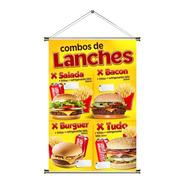 Banner De Combos De Lanches - 60x90cm
