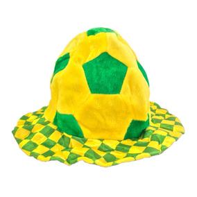 2561d2d60c586 Chapéu Quadriculado Copa Do Mundo Brasil 2018